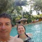 Heather and I in the pool