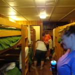 Inside the bunkhouse; a bit snug but comfy