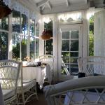 The porch where we had breakfast was beautiful!