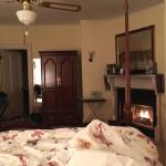 The room was extremely comfortable, and the fireplace wonderful.