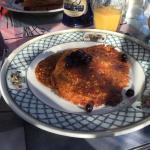 The cornmeal rye pancakes were a highlight of the breakfasts.