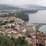 Looking down on Sorrento