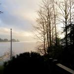 View of Lake Whatcom from the deck. So serene...