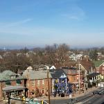 View of Gettysburg from our balcony at 1863 Inn