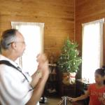 Mr. Reyes explaining what Christmas was like for a Cuban family living in the late 1800's in Ybo
