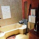 The fabulous bathroom -- also has a huge shower