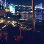Bosphorus Bridge view from cruise bar terrace