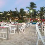 Caribbean Beach BBQ! Went on through sunset and into a beautiful star lit evening!