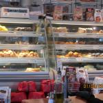 The pastry display case