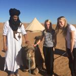 The girls with a local camel