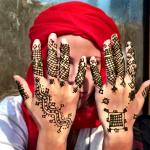 Henna Hands in the local village