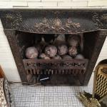 The cannon balls from a local fort...perfect touch!