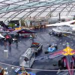 Overview of the Red Bull Hangar 7 from the Mayday Lounge