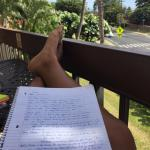 Reviewing for exams on the lanai makes studying less of a chore