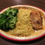 Grilled Salmon with Broccoli and Cous Cous