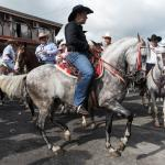 Tope - a traditional horse parade. La Fortuna
