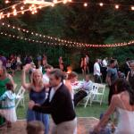 Reception in the Meadow (lighting was provided by Lakedale Resort!)