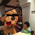Peekaboo with Pluto at the Wyndham Character Breakfast