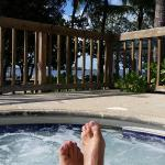 Enjoying the view from the hot tub on a beautiful day. Oct 30,2015