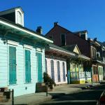Beautiful colorful buildings adjacent to Gentry House