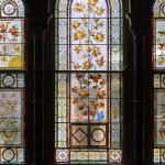Stain glass windows that are through out the home