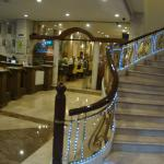 The staircase up from the groud floor -