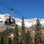 Walking with our snowboards to the gondola