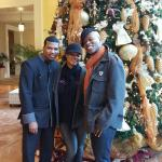 Hospitality staff member Jermaine, hotel's restaurant Southern Art and the hotel's Christmas dec