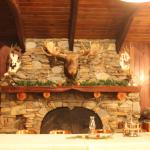 one of several amazing fireplaces