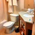 Small bathroom for Hampton Inn