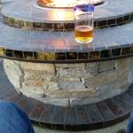 Rooftop bar and fire pit