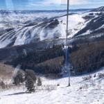 View from gondola that connects the old Park City Resort with the Canyons