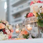 cake, flowers and table decor
