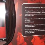 Freedom Riders Museum Video Booth