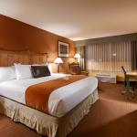 Our spacious king room has all the comforts of home at your fingertips including a refrigerator.
