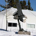 Sculpture of Eagle at Eagle Lodge
