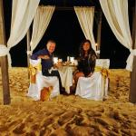 Private beach dining at The House, catered by Daphnes