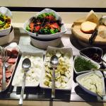 Fantastic Israeli breakfast buffet