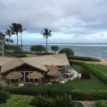 view of ocean and the bar/restaurant
