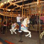 On the carousel.