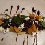 PICKLED GOLDEN BEETS AND CROWS DAIRY GOAT CHEESE