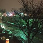 View from 301 - That's the plaza w/colored lights on trees!