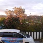 The picture on the car is the actual view