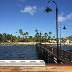 On the fishing pier looking at the resort