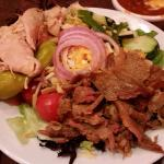 Smoke house salad with chicken and brisket