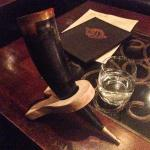 Banderillero $22.00 (A drink served in a repurposed bull's horn! Need more? Okay, chorizo infuse