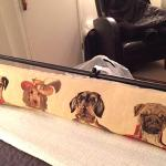Peter has two adorable four-legged family members and dog likenesses are found throughout!