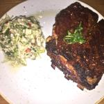 The fall-off-the-bone Pork Ribs, apple slaw on the side