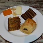 Breakfast sweets and cheese