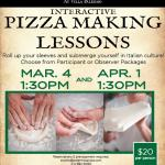Upcoming Pizza Making Lessons